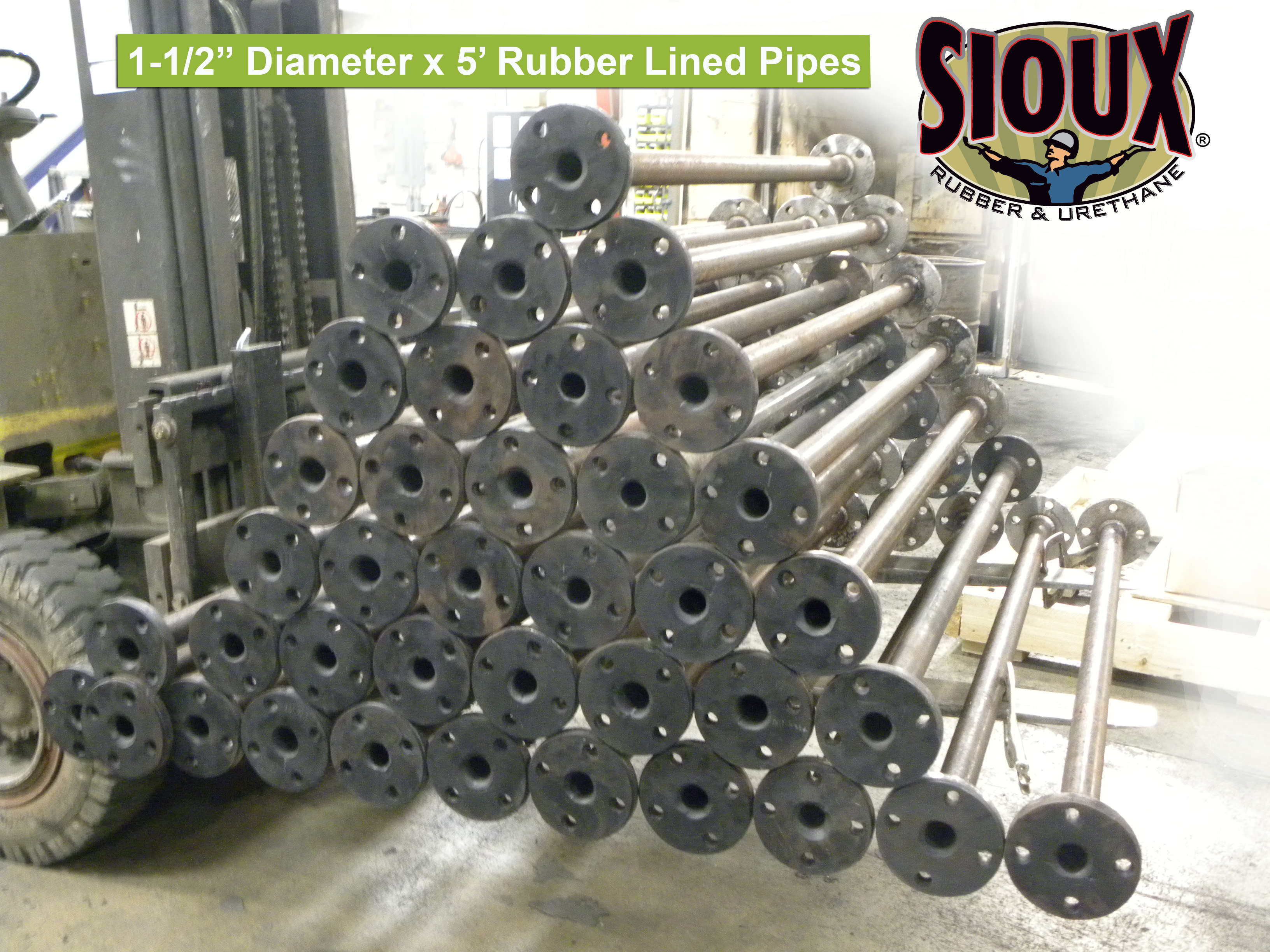 """1-1/2"""" diameter Pipe-Yup, we can rubber line that!"""